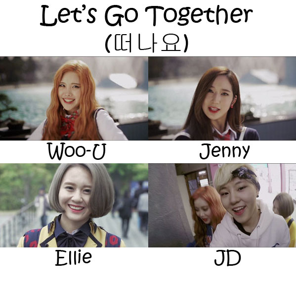 "The members of Kiwi Band in the ""Let's Go together"" MV"