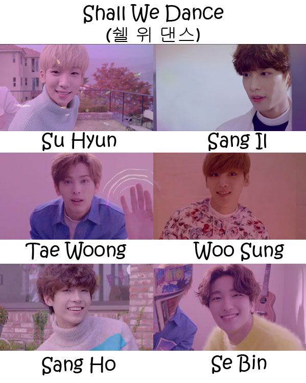 "The members of Snuper in the ""Shall We Dance"" MV"