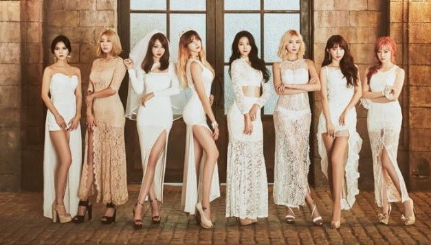 "9Muses' ""Lost"" promotional picture."