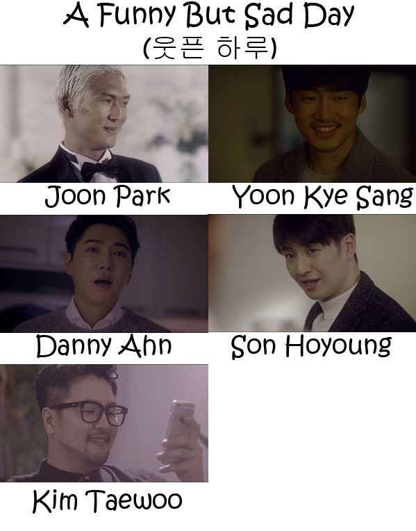 "The members of g.o.d in the ""A Funny But Sad Day"" MV"