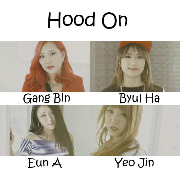 "The Members of A.H.H.A in the ""Hood On"" MV"