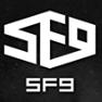 SF9's logo.