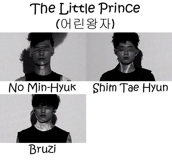 "The members of AshGray in the ""The Little Prince"" MV"