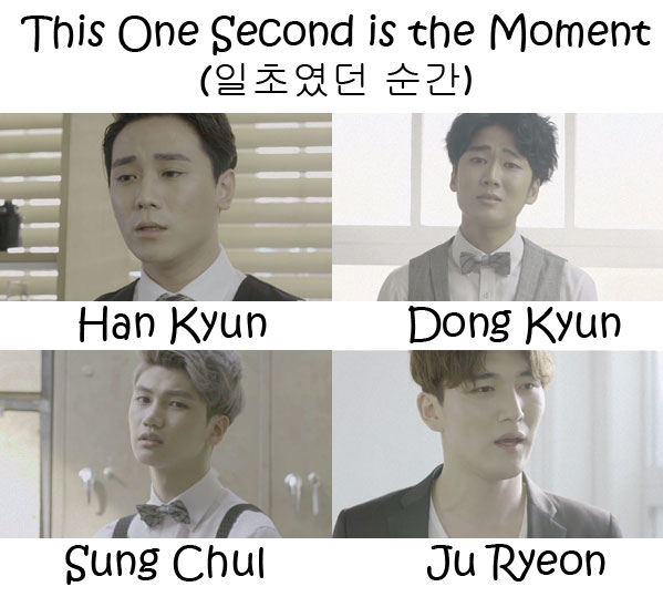"The members of 5NL in the ""This Second Is The Moment"""