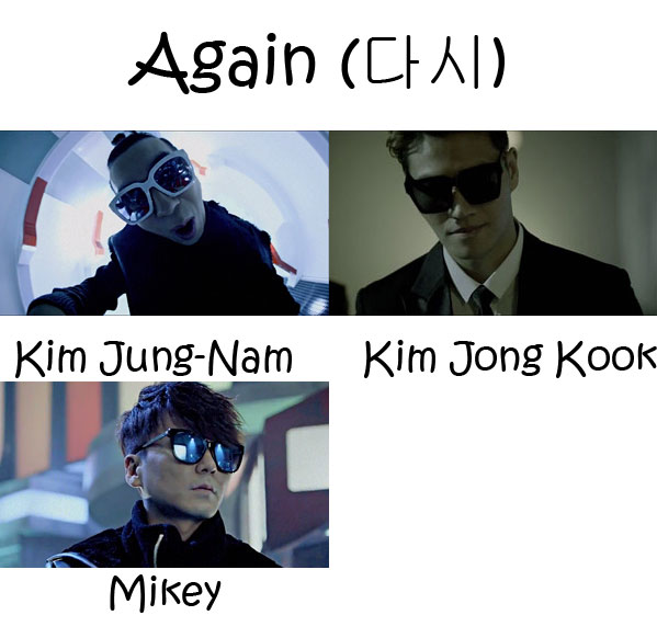 "The members od Turbo in the ""Again"" MV"