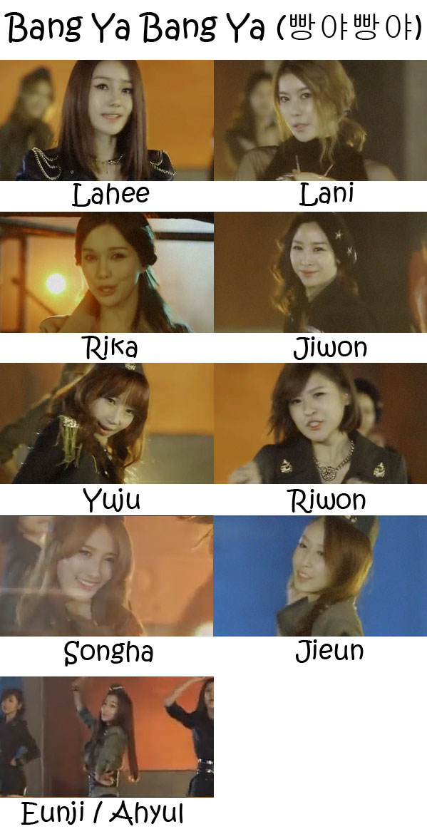 "The members of LPG in the ""Bang Ya Bang Ya"" MV"