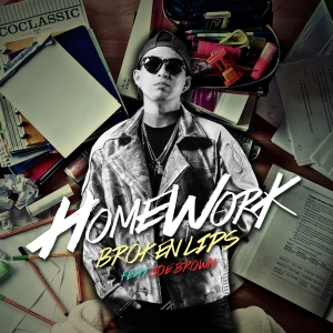 "Album art for Broken Lips's album ""Homework"""
