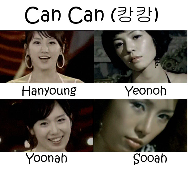 "The members of LPG in the ""Can Can"" MV"