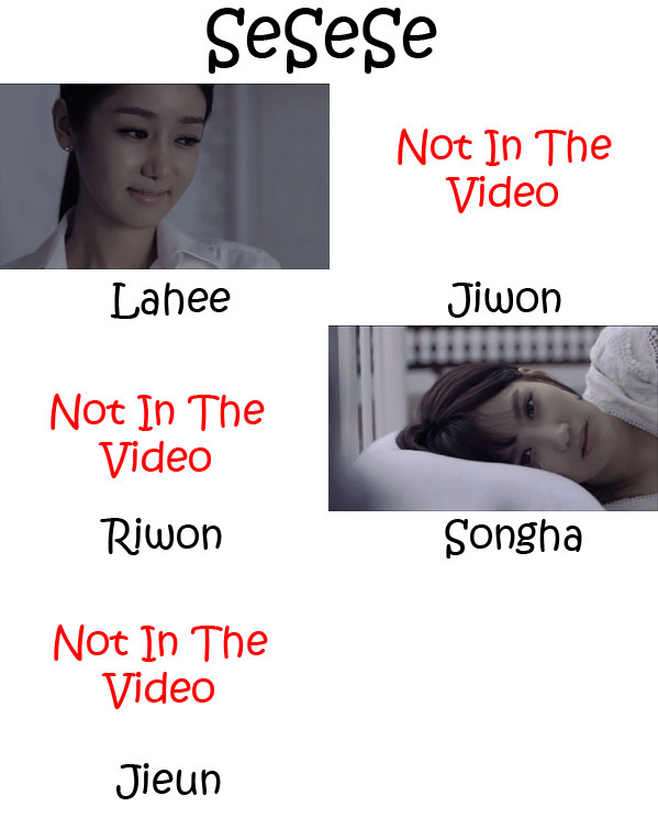"The members of Chaness in the ""SeSeSe"" MV"