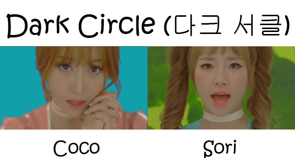 "The members of Cocosori in the ""Dark Circle"" MV"