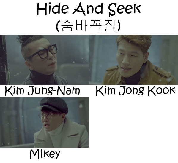 "The members of Turbo in the ""Hide And Seek"" MV"