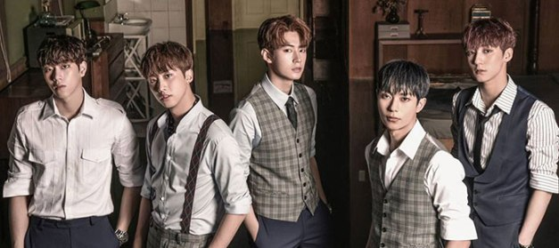 "KNK's promotional picture for ""Gravity, Completed"""