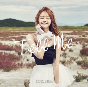 "Album art for Song Ji Eun's album ""Tell Me"""