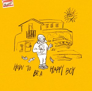 "Album art for Super Bee's album ""How To Be A Happy Boy"""