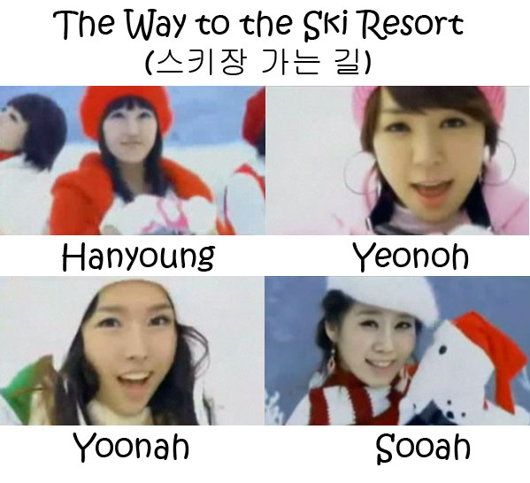 "The members of LPG in the ""The Way To The Ski Resort"""