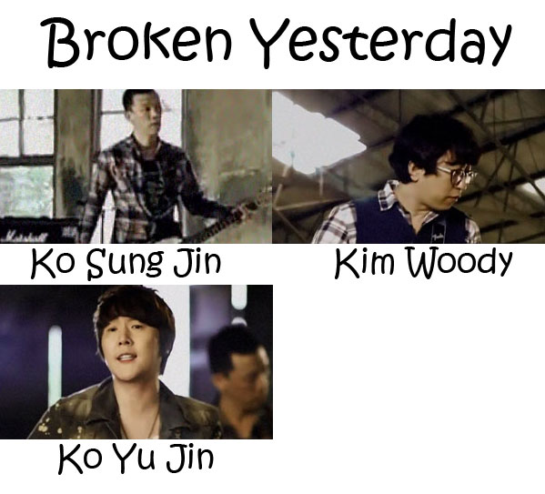 "The members of Flower in the ""Broken Yesterday"" MV"