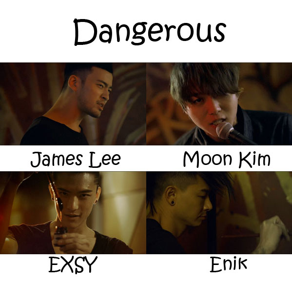 "The members of Royal Pirates in the ""Dangerous"" MV"