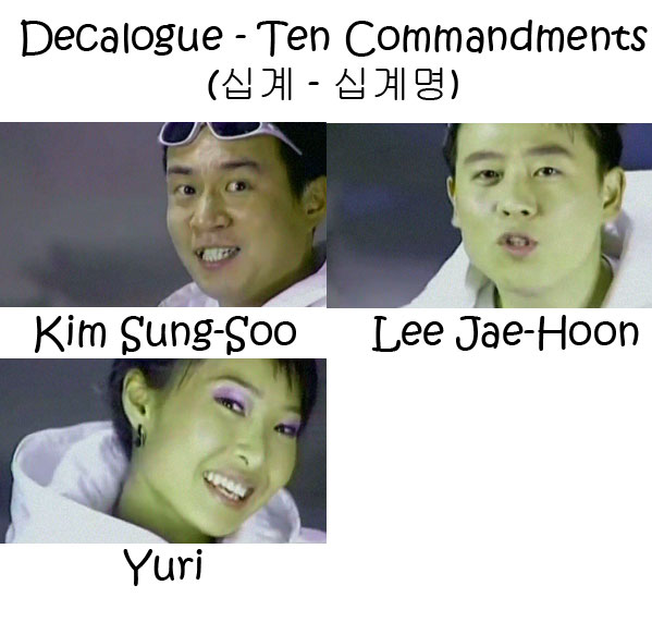 "The members of Cool in the ""Decalogue - Ten Commandments"" MV"