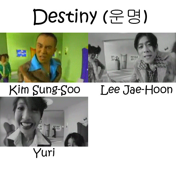 """The members of Cool in the """"Destiny"""" MV"""