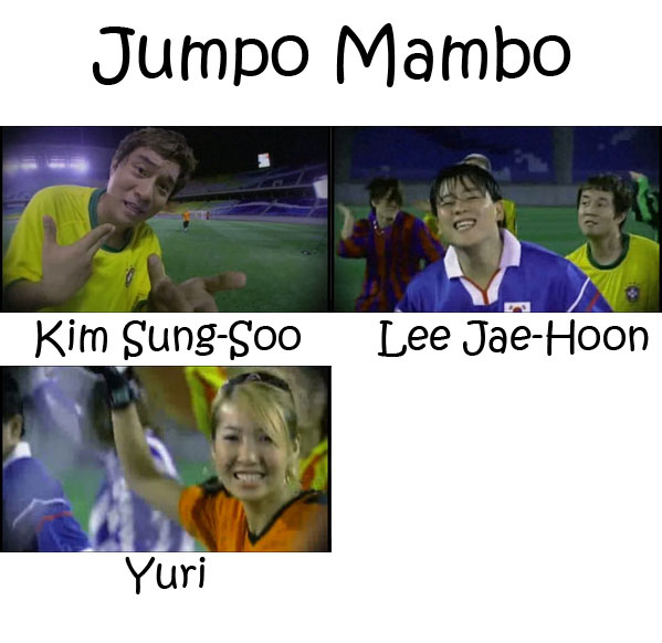 "The members of Cool in the ""Jumpo Mambo"" MV"