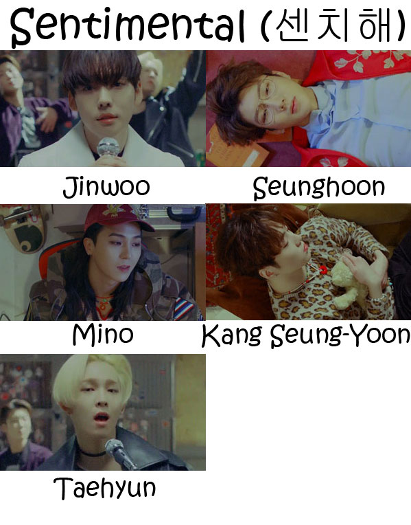 "The members of WINNER in the ""Sentimental"" MV"