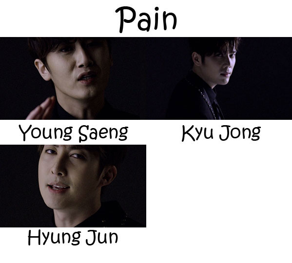 "The members of SS301 in the ""Pain"" MV"