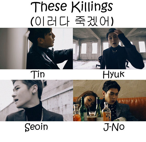 "The members of APL in the ""These Killings"" MV"