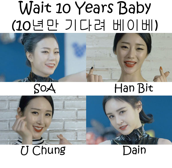 "The members of Six Bomb ""Wait 10 Years Baby"""