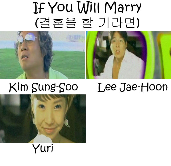 "The members of Cool in the ""If You Will Marry"" MV"