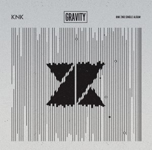 "Album art for KNK's album ""Gravity"""