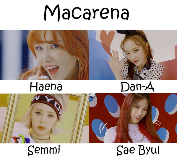"The members of Matilda in the ""Matilda"" MV"