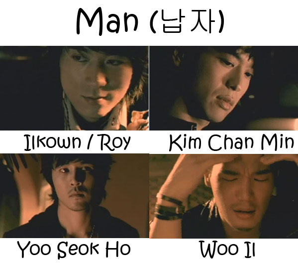 "The members of 5tion in the ""Man"" MV"