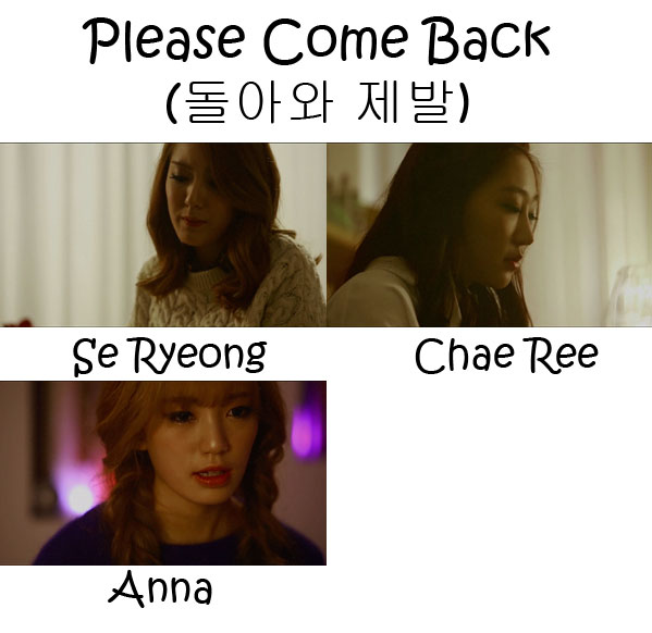 "The members of Vetty L in the ""Please Come Back"" MV"