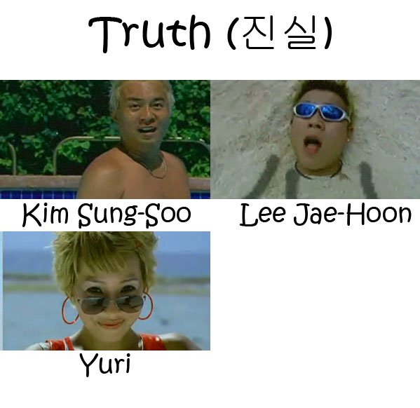 "The members of Cool in the ""Truth"" MV"