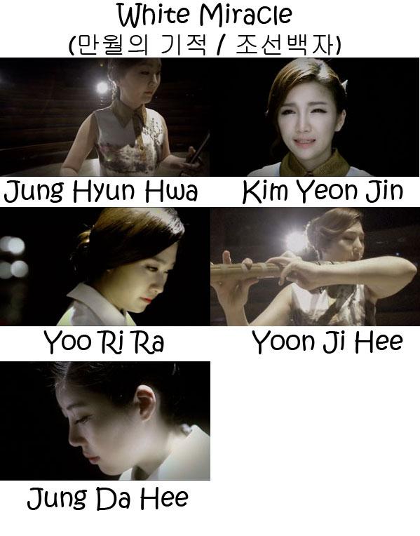 "The members of Vidan in the ""White Miracle"" MV"