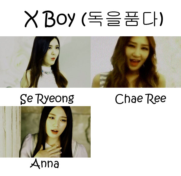 "The members of Vetty L in the ""X Boy"" MV"