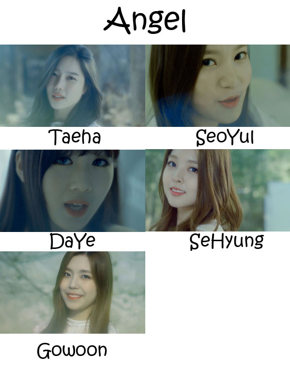 "The members of Berry Good in the ""Angel"" MV"