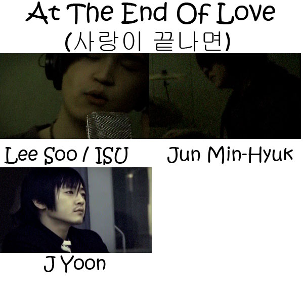 "The members of M.C The Max in the ""At The End Of Love"" MV"