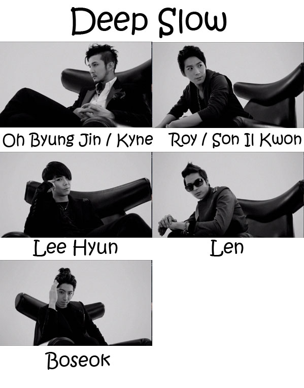 "The members of 5tion in the ""Deep Slow"" MV"