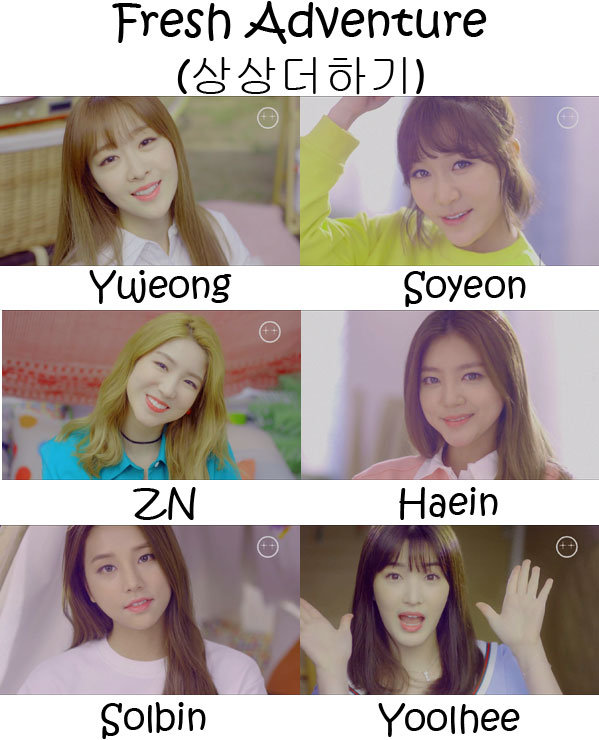 "The members of LABOUM in the ""Fresh Adventure"""