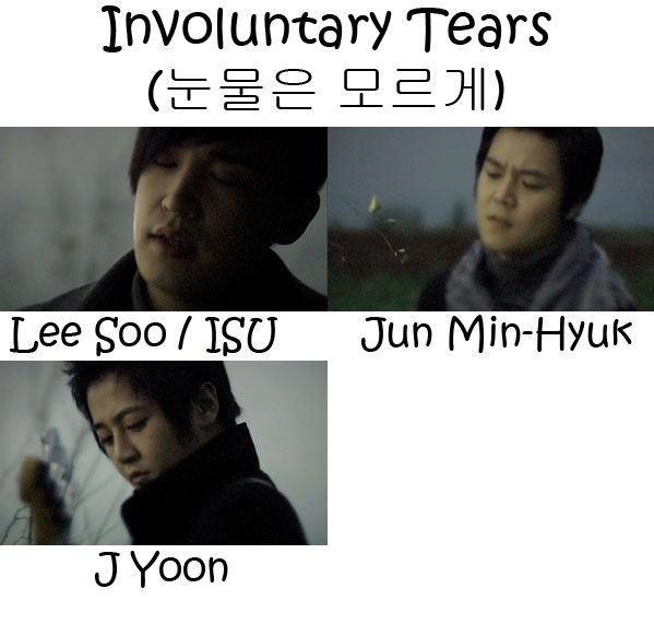 "The members of M.C. The Max in the ""Invoulutary Tears"" MV"