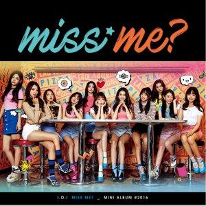 """Album art for I.O.I's album """"Miss Me?"""""""