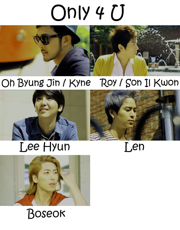 "The members of 5tion in the ""Only 4 U"" Who's Who"