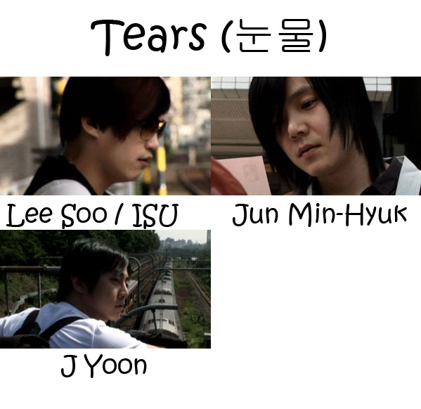 "The members of M.C The Max in the ""Tears"" MV"