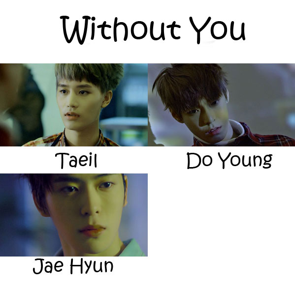 "The members of NCT U in the ""Without You"" MV"