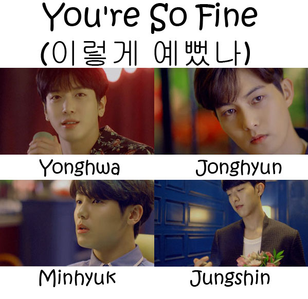 "The members of CNBLUE in the ""You're So Fine"" MV"