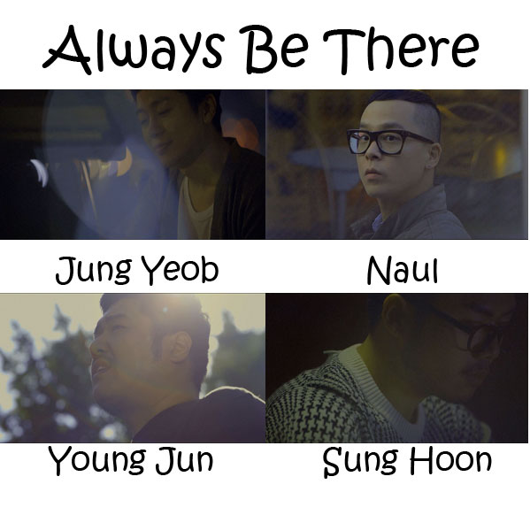 "The members of Brown Eyed Soul in the ""Always Be There"" MV"
