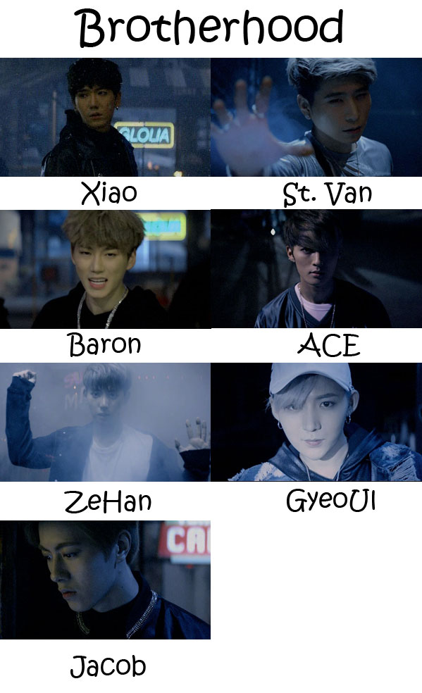 "The members of VAV in the ""Brotherhood"" MV"