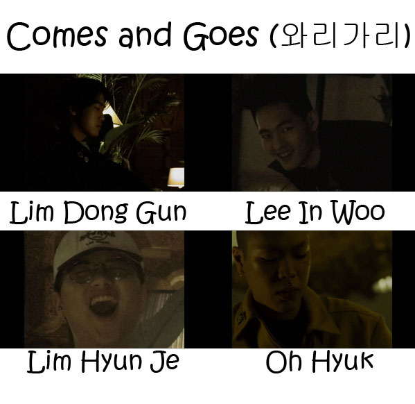 "The members of Hyukoh in the ""Comes And Goes"" MV"