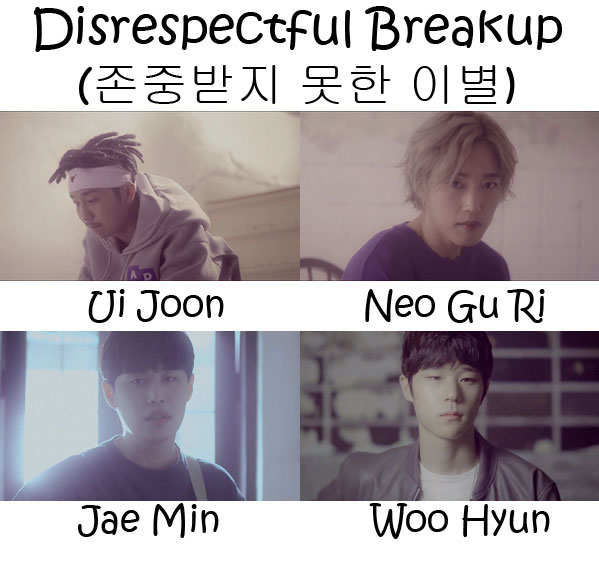 "The members of Lou.De in the ""Disrespectful Breakup"" MV"